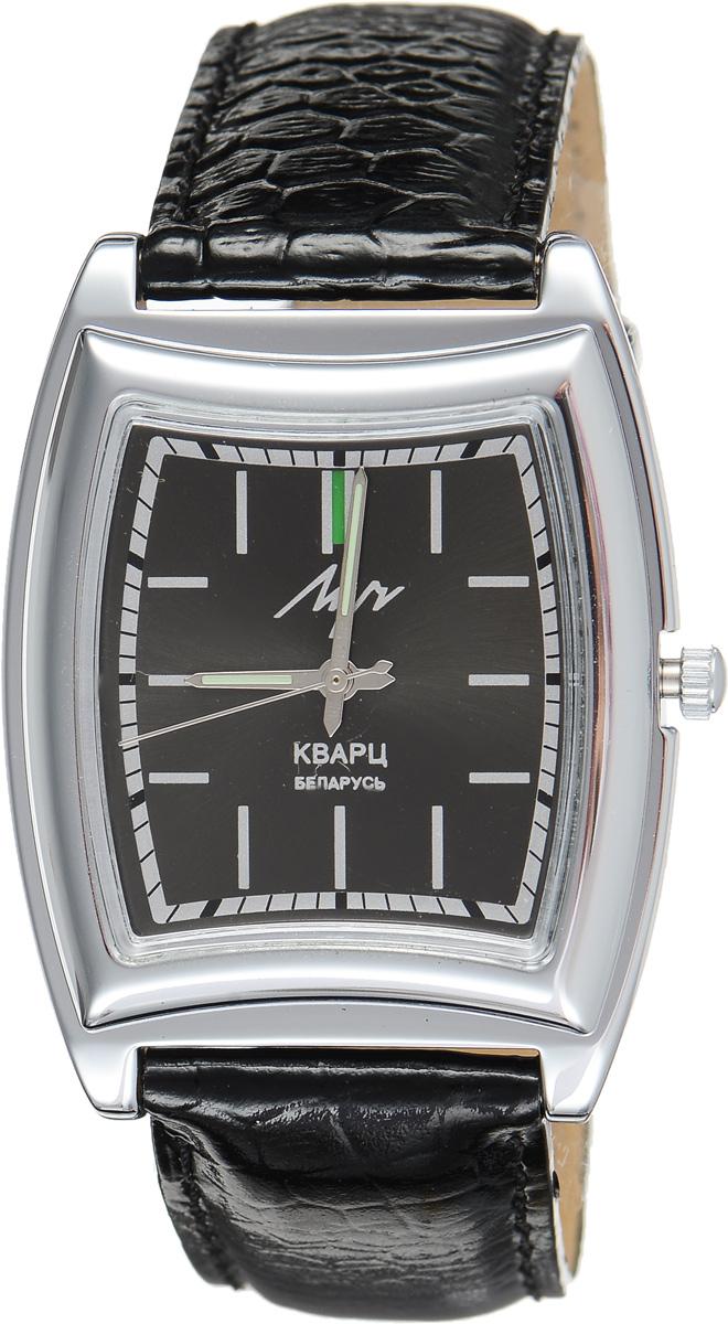 Часы наручные мужские Луч, цвет: серебряный, черный. 3448130334481303Стильные мужские часы Луч выполнены из металлического сплава и силикатного стекла. Корпус с покрытием из хрома обладает высокой стойкостью к стиранию. Циферблат оформлен символикой бренда. Корпус часов оснащен кварцевым механизмом со сменным элементом питания, а также дополнен ремешком из натуральной кожи с лаковым покрытием и декоративным тиснением, который застегивается на практичную пряжку. Часы Луч подчеркнут отменное чувство стиля их обладателя.