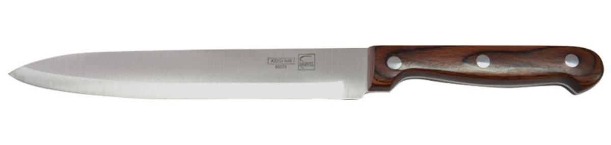 Нож кухонный Marvel Rose Wood Original, цвет: серый, длина лезвия 20 см. 8507085070
