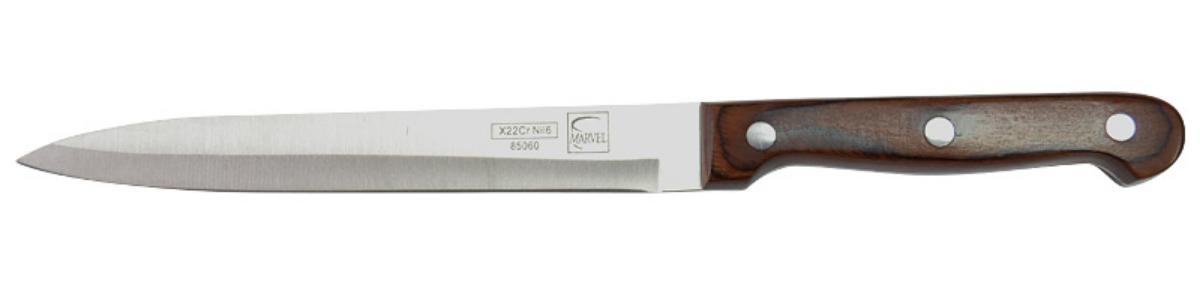 Нож кухонный Marvel Rose Wood Original, цвет: серый, длина лезвия 15 см. 8506085060