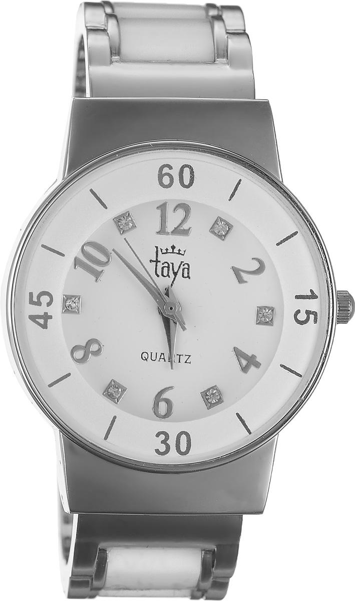 Часы наручные женские Taya, цвет: серебряный, белый. T-W-0467T-W-0467-WATCH-SL.WHITEСтильные женские часы Taya выполнены из минерального стекла и нержавеющей стали. Циферблат часов инкрустирован стразами и оформлен символикой бренда. Корпус часов оснащен кварцевым механизмом со сменным элементом питания и дополнен раздвижным браслетом с пружинным механизмом, который позволяет надеть часы на любую руку. Браслет часов оформлен цветными вставками. Часы поставляются в фирменной упаковке. Часы Taya подчеркнут изящность женской руки и отменное чувство стиля у их обладательницы.