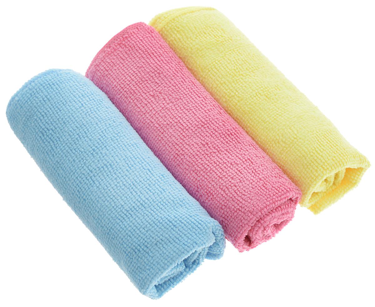 Набор салфеток для уборки Sol, из микрофибры, цвет: розовый, желтый, голубой, 30 x 30 см, 3 шт10035_розовый,желтый,голубойНабор салфеток Sol выполнен из микрофибры. Микрофибра - это ткань из тонких микроволокон, которая эффективно очищает поверхности благодаря капиллярному эффекту между ними. Такая салфетка может использоваться как для сухой, так и для влажной уборки. Деликатно очищает любые поверхности, не оставляя следов и разводов. Идеально подходит для протирки полированной мебели. Сохраняет свои свойства после стирки. Рекомендации по применению и уходу: Для обеспечения гигиеничности рекомендуется прополаскивать салфетку после каждого применения с моющим средством. Для сохранения мягкости не рекомендуется сушить вблизи отопительных приборов и на батареях.