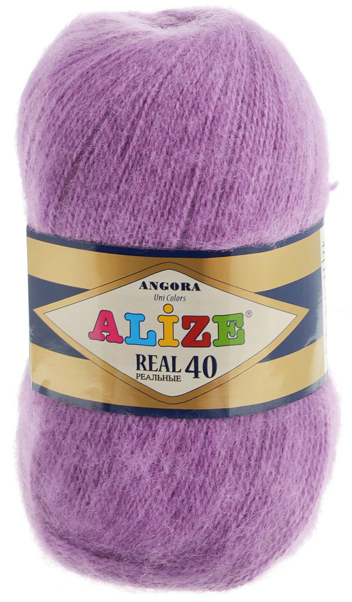 Пряжа для вязания Alize Angora Real, цвет: сиреневый (40), 480 м, 100 г, 5 шт551390-40_сиреневыйAlize Angora Real - это ровная, тонкая и пушистая пряжа, изготовленная из 60% акрила и 40% шерсти. Нить не вытягивается, достаточно прочная и крепкая. Такая пряжа идеально подойдет для вязания зимних вещей (шарфов, жилетов, пуловеров) с различными ажурными узорами. Вещи, связанные из этой пряжи, хорошо и долго носятся, не выгорают и не линяют. Предназначена для ручного вязания спицами и крючком. Рекомендуемый размер спиц: № 2,5-5 мм, Рекомендованный размер крючка: № 1-4 мм. Состав: 60% акрил, 40% шерсть.