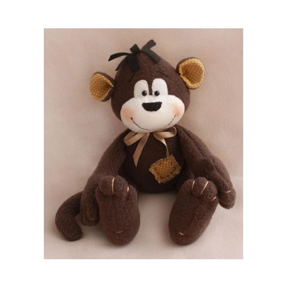 Набор для изготовления игрушки Ваниль Monkey Story. Обезьянка, 16 см. MN001488372В состав набора входит: флис, трикотаж, хлопок, фетр, нитки, иголка, бусины, атласная лента, деревянная палочка, выкройка, подробная инструкция.