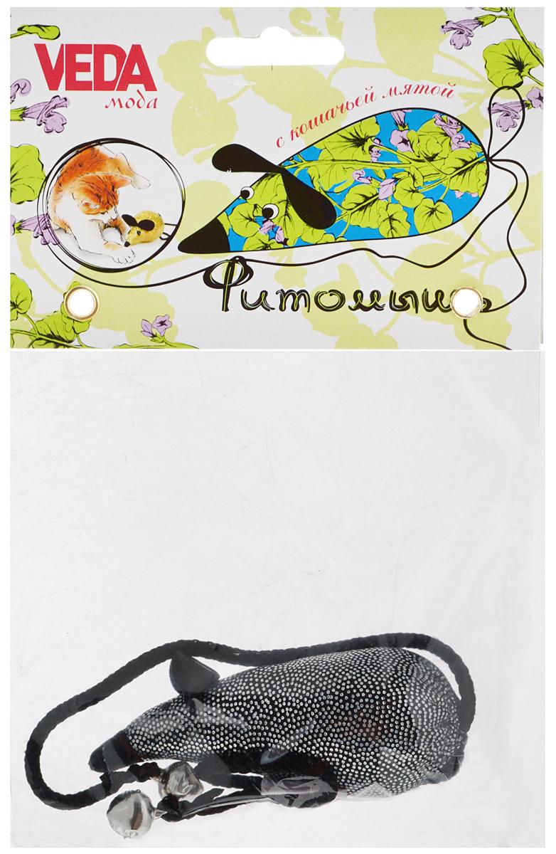 Игрушка для кошек Veda Фитомышь, с кошачьей мятой, цвет: серебристый, черныйAR006_серебристый, черныйМягкая игрушка Veda Фитомышь изготовлена из трикотажной ткани голограммы. Играя с этой забавной игрушкой, маленькие котята развиваются физически, а взрослые кошки и коты поддерживают свой мышечный тонус. Изделие выполнено в виде мыши. Наполнитель синтепух и кошачья мята. Хвост мышки, изготовленный из текстиля в виде шнурка, оснащен облегченными металлическими элементами, которые поддерживают интерес к игре. Такая игрушка абсолютно безопасна для кошки. Кошачья мята - растение, запах которого делает кошку более игривой и любопытной. С помощью этого средства кошка легче перенесет путешествие на автомобиле, посещение ветеринарного врача, переезд на новую квартиру. Также игрушка помогает удалить зубной камень и улучшить здоровье зубов. Размер игрушки: 9 х 4 х 4 см.