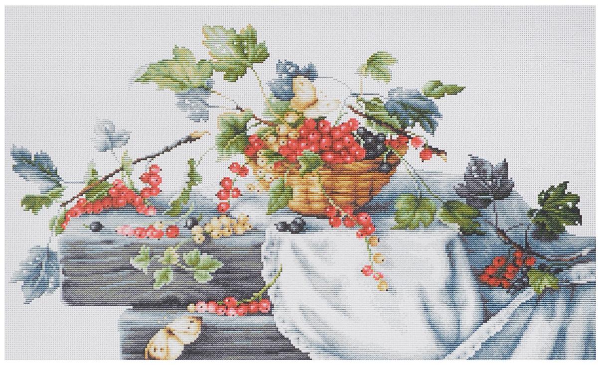Набор для вышивания крестом Luca-S Красная смородина, 39,5 х 23,5 смB2262Набор для вышивания крестом Luca-S Красная смородина поможет создать красивую вышитую картину. Рисунок-вышивка, выполненный на канве, выглядит стильно и модно. Вышивание отвлечет вас от повседневных забот и превратится в увлекательное занятие! Работа, сделанная своими руками, не только украсит интерьер дома, придав ему уют и оригинальность, но и будет отличным подарком для друзей и близких! Набор содержит все необходимые материалы для вышивки на канве в технике счетный крест. В набор входит: - канва Aida Zweigart №18 (белого цвета), - мулине Anchor - 100% мерсеризованный хлопок (38 цветов), - черно-белая символьная схема, - инструкция на русском языке, - игла. Размер готовой работы: 39,5 х 23,5 см. Размер канвы: 52 х 37,5 см. Художник: Елена Базанова.