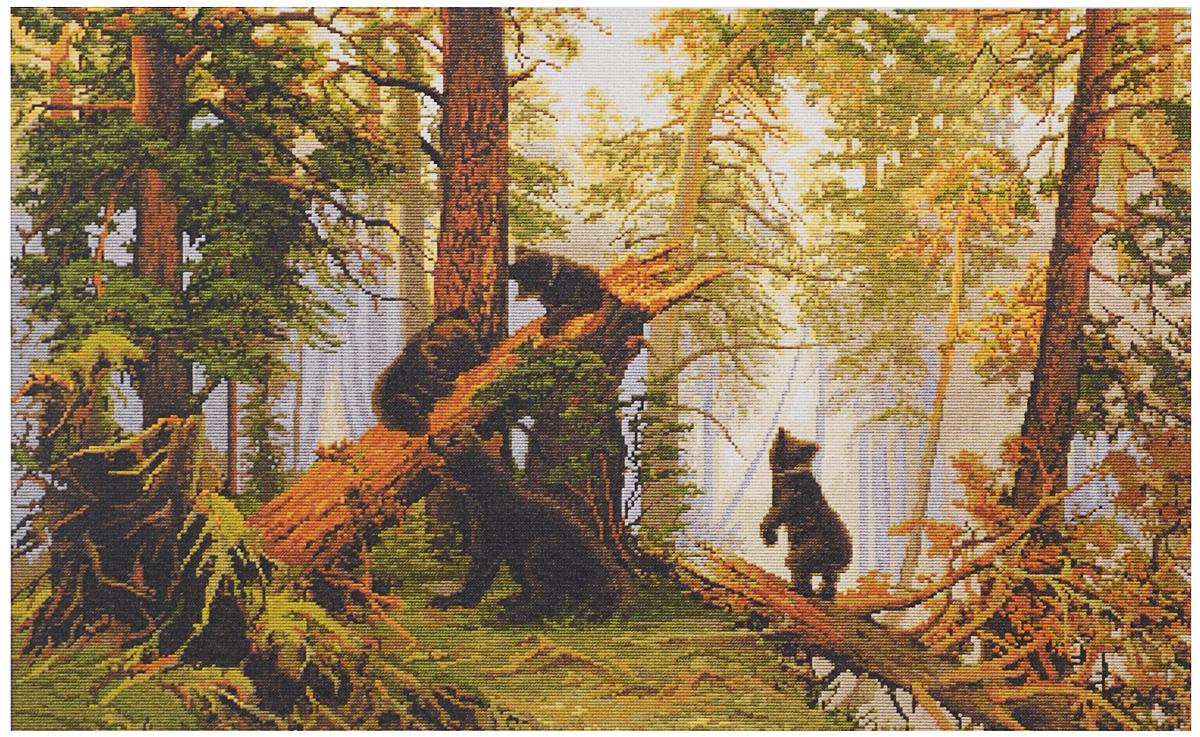 Набор для вышивания крестом Luca-S Утро в сосновом лесу, 53,5 х 35,5 смB452Набор для вышивания крестом Luca-S Утро в сосновом лесу поможет создать красивую вышитую картину. Рисунок-вышивка, выполненный на канве, выглядит стильно и модно. Вышивание отвлечет вас от повседневных забот и превратится в увлекательное занятие! Работа, сделанная своими руками, не только украсит интерьер дома, придав ему уют и оригинальность, но и будет отличным подарком для друзей и близких! Набор содержит все необходимые материалы для вышивки на канве в технике счетный крест. В набор входит: - канва Aida Zweigart №18 (бежевого цвета), - мулине Anchor - 100% мерсеризованный хлопок (37 цветов), - черно-белая символьная схема, - инструкция на русском языке, - игла. Размер готовой работы: 53,5 х 35,5 см. Размер канвы: 63 х 50,5 см.