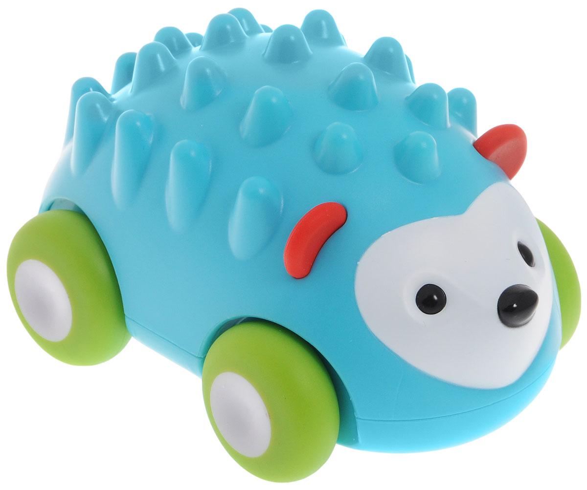 Skip Hop Развивающая игрушка-каталка ЕжикSH 303107Развивающая игрушка-каталка Skip Hop Ежик предназначена для детей, начинающих ползать. Ваш малыш с удовольствием будет катать машинку в виде ежика и ползать вслед за игрушкой. Игрушка выполнена из безопасных, приятных на ощупь материалов. Размер игрушки подходит для маленьких ручек. Игрушка оснащена инерционным механизмом: достаточно немного откатить машинку назад и отпустить - она быстро поедет вперед. Прорезиненные колеса смягчают движение игрушки и защищают пол от повреждений. Игрушка-каталка Skip Hop Ежик поможет малышу в развитии цветового и звукового восприятия, мелкой моторики рук, координации движений, когнитивных навыков. Не содержит поливинилхлорид и фталаты.