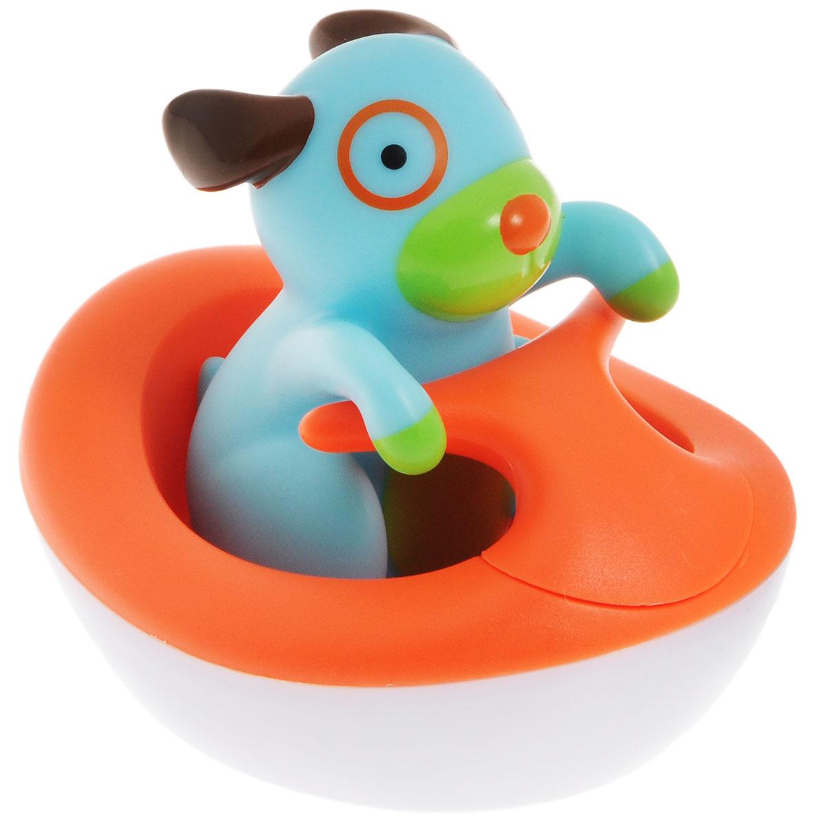 Skip Hop Игрушка для ванной Щенок на гидроциклеSH 235353Игрушка для ванной Skip Hop Щенок на гидроцикле понравится вашему ребенку и развлечет его во время купания. Игрушка выполнена из безопасного материала в виде гидроцикла с фигуркой щенка в нем. Фигурка съемная. При замыкании контактов на дне гидроцикла раздается лай, звук мотора и плеск воды. Игрушка для ванной способствует развитию звукового и цветового восприятия, тактильных ощущений. Она превратит купание в настоящий праздник! Для работы игрушки необходима 1 батарейка напряжением 3 V типа CR2032 (товар комплектуется демонстрационной).
