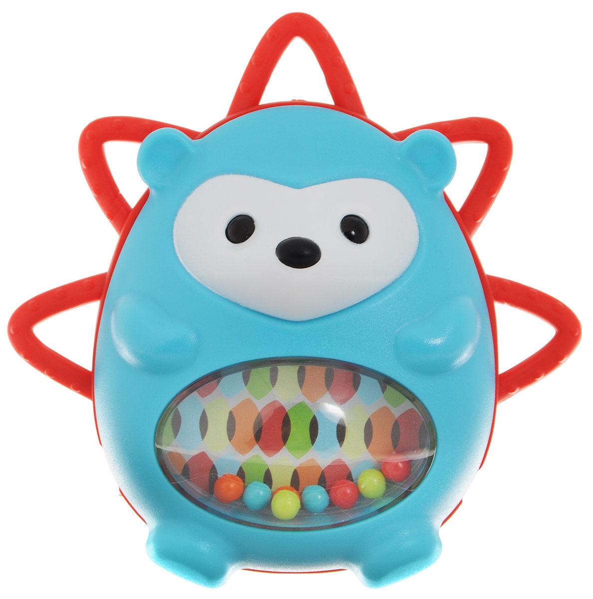 Skip Hop Развивающая игрушка-погремушка Ежик с сюрпризомSH 303150Развивающая игрушка-погремушка Skip Hop Ежик с сюрпризом выполнена из разнофактурных материалов в виде забавного ежика. В животе у ежика есть разноцветные шарики, которые весело гремят при встряхивании игрушки. Кроме того, лицевая сторона игрушки поворачивается относительно основания, открывая спрятанное безопасное зеркальце. Развивающая игрушка-погремушка Skip Hop Ежик с сюрпризом поможет малышу в развитии цветового и звукового восприятия, мелкой моторики рук, тактильных ощущений, координации движений, когнитивных навыков. Не содержит бисфенол А, поливинилхлорид и фталаты.