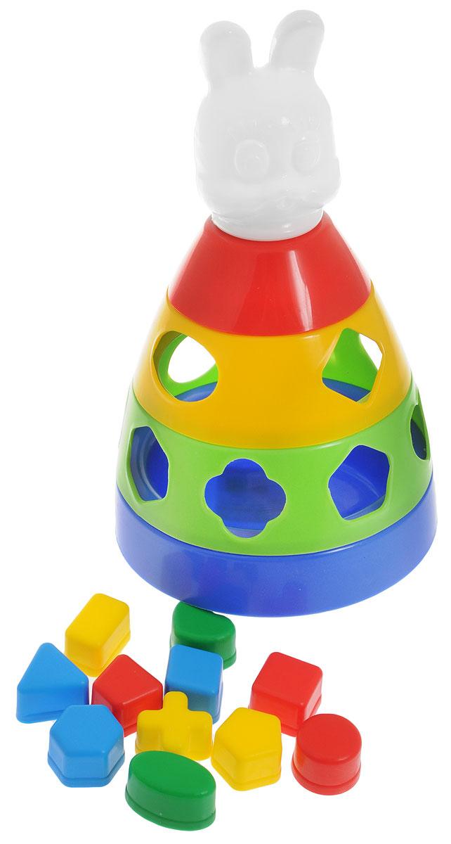 Спектр Сортер ПирамидаУ802Игрушка-сортер Спектр Пирамида сочетает в себе увлекательное обучение и настоящее веселье. Оригинальный и яркий сортер выполнен из прочного безопасного пластика ярких цветов в виде пирамиды с головой зайчика. В комплект также входят 12 различных фигур, каждая из которых по форме соответствует определенному отверстию в корпусе пирамиды. Малыш должен самостоятельно определить, к какому отверстию подходит определенная фигурка. Основание сортера имеет выпуклую поверхность, благодаря которой пирамидку можно раскрутить вокруг своей оси наподобие юлы. Сортер - это незаменимая игрушка для всех малышей, которые уже активно познают мир и готовы начать изучение форм и цветов. В процессе такой игры малыш начнет развивать логическое, а также пространственное мышление, моторику, цветовосприятие, познакомится с понятием формы предмета и понятием соответствия предметов одного другому.