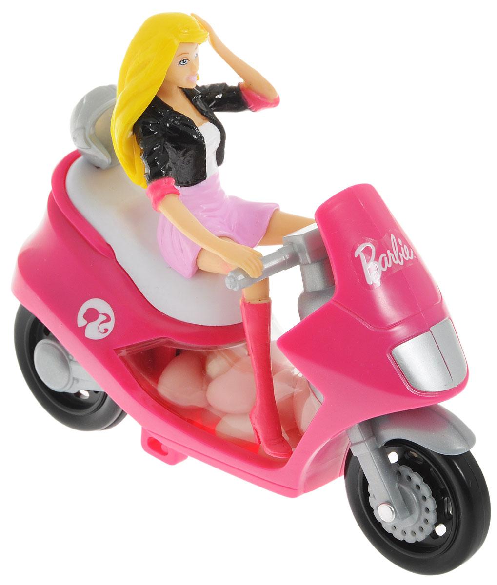Barbie конфеты драже с малиновым скутером, 10 г4004641216987_скутер малиновыйИгрушка для девочек, выполненная в виде Barbie на скутере. К скутеру прикреплен мини-контейнер с 10 граммами драже.