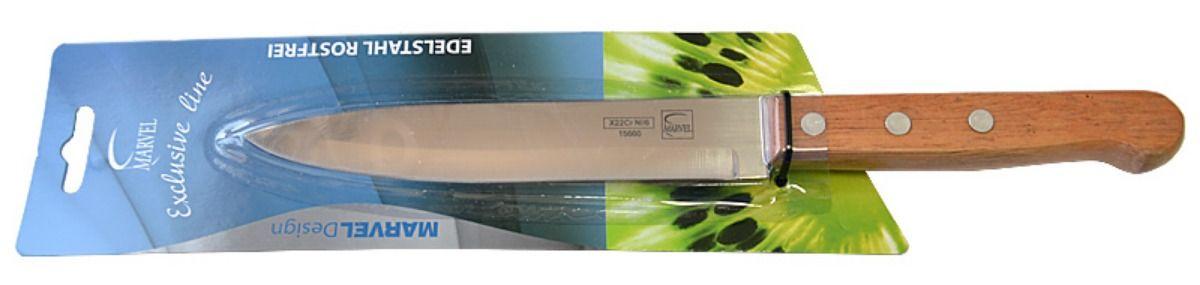 Нож кухонный Marvel Econom series, цвет: серый, длина лезвия 15 см. 1566015660