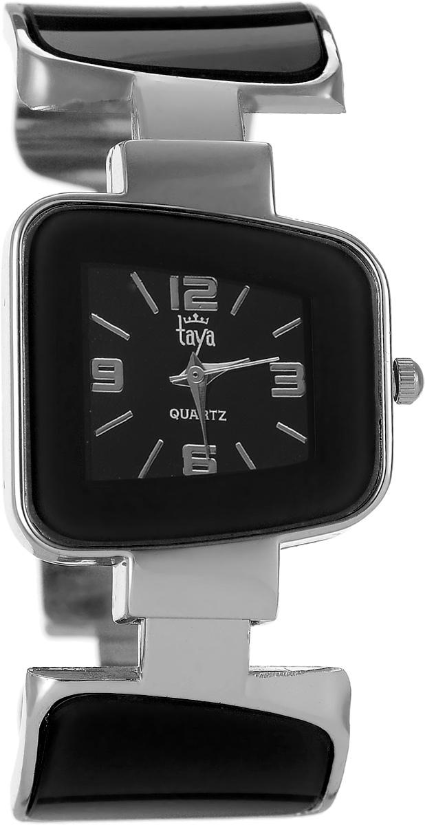 Часы наручные женские Taya, цвет: серебряный, черный. T-W-0426T-W-0426-WATCH-SL.BLACKСтильные женские часы Taya выполнены из минерального стекла и нержавеющей стали. Циферблат часов оформлен символикой бренда. Корпус часов оснащен кварцевым механизмом со сменным элементом питания и дополнен раздвижным браслетом с пружинным механизмом, который позволяет надеть часы на любую руку. Браслет часов оформлен цветными вставками. Часы поставляются в фирменной упаковке. Часы Taya подчеркнут изящность женской руки и отменное чувство стиля у их обладательницы.