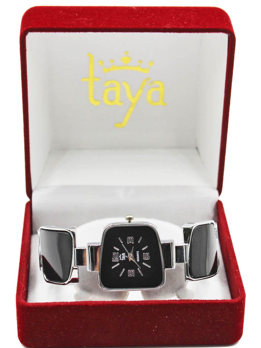 Часы наручные женские Taya, цвет: серебряный, черный. T-W-0426