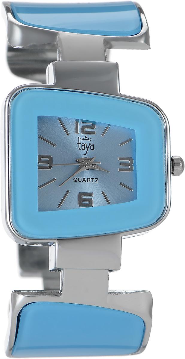 Часы наручные женские Taya, цвет: серебряный, голубой. T-W-0427T-W-0427-WATCH-SL.BLUEСтильные женские часы Taya выполнены из минерального стекла и нержавеющей стали. Циферблат часов оформлен символикой бренда. Корпус часов оснащен кварцевым механизмом со сменным элементом питания и дополнен раздвижным браслетом с пружинным механизмом, который позволяет надеть часы на любую руку. Браслет часов оформлен цветными вставками. Часы поставляются в фирменной упаковке. Часы Taya подчеркнут изящность женской руки и отменное чувство стиля у их обладательницы.