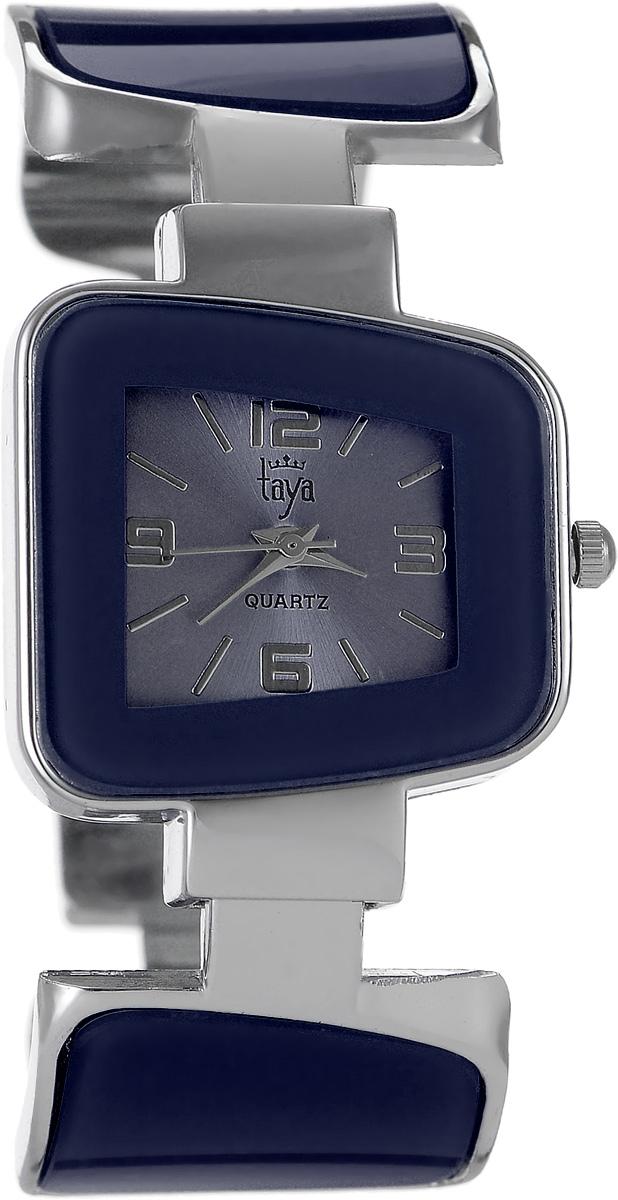 Часы наручные женские Taya, цвет: серебряный, синий. T-W-0430T-W-0430-WATCH-SL.NAVIСтильные женские часы Taya выполнены из минерального стекла и нержавеющей стали. Циферблат часов оформлен символикой бренда. Корпус часов оснащен кварцевым механизмом со сменным элементом питания и дополнен раздвижным браслетом с пружинным механизмом, который позволяет надеть часы на любую руку. Браслет часов оформлен цветными вставками. Часы поставляются в фирменной упаковке. Часы Taya подчеркнут изящность женской руки и отменное чувство стиля у их обладательницы.