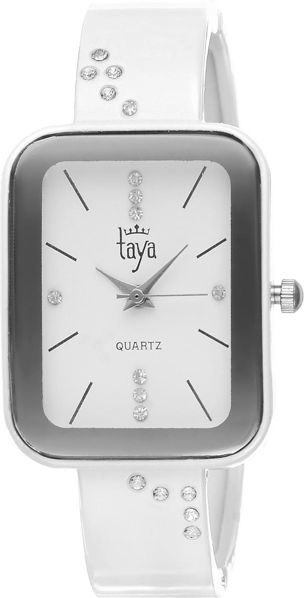 Часы наручные женские Taya, цвет: белый. T-W-0462T-W-0462-WATCH-WHITEСтильные женские часы Taya выполнены из минерального стекла и нержавеющей стали. Браслет и циферблат часов инкрустированы стразами, циферблат дополнен символикой бренда. Корпус часов оснащен кварцевым механизмом со сменным элементом питания, а также дополнен раздвижным браслетом с пружинным механизмом. Часы поставляются в фирменной упаковке. Часы Taya подчеркнут изящность женской руки и отменное чувство стиля у их обладательницы.