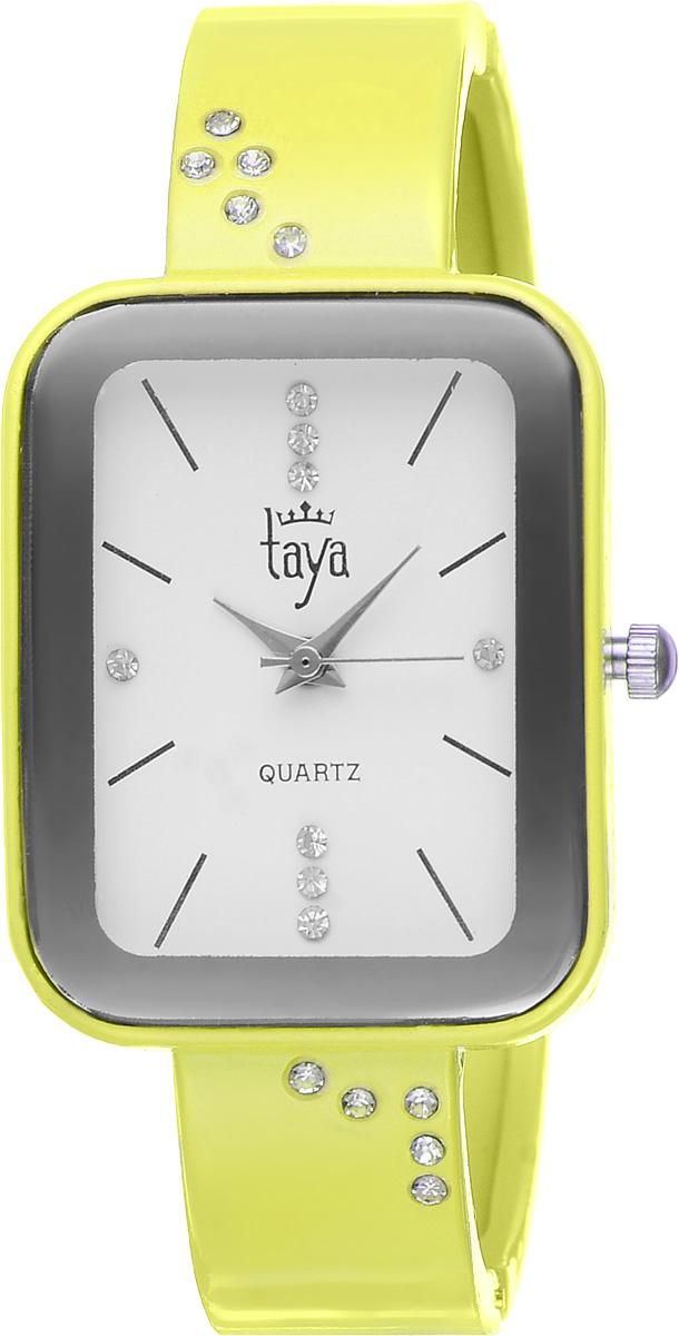 Часы наручные женские Taya, цвет: желтый. T-W-0463T-W-0463-WATCH-YELLOWСтильные женские часы Taya выполнены из минерального стекла и нержавеющей стали. Браслет и циферблат часов инкрустированы стразами, циферблат дополнен символикой бренда. Корпус часов оснащен кварцевым механизмом со сменным элементом питания, а также дополнен раздвижным браслетом с пружинным механизмом. Часы поставляются в фирменной упаковке. Часы Taya подчеркнут изящность женской руки и отменное чувство стиля у их обладательницы.