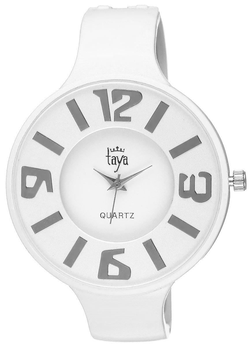 Часы наручные женские Taya, цвет: белый. T-W-0455T-W-0455-WATCH-WHITEСтильные женские часы Taya выполнены из минерального стекла и нержавеющей стали. Циферблат часов оформлен символикой бренда. Корпус часов оснащен кварцевым механизмом со сменным элементом питания и дополнен раздвижным браслетом с пружинным механизмом. Часы поставляются в фирменной упаковке. Часы Taya подчеркнут изящность женской руки и отменное чувство стиля у их обладательницы.