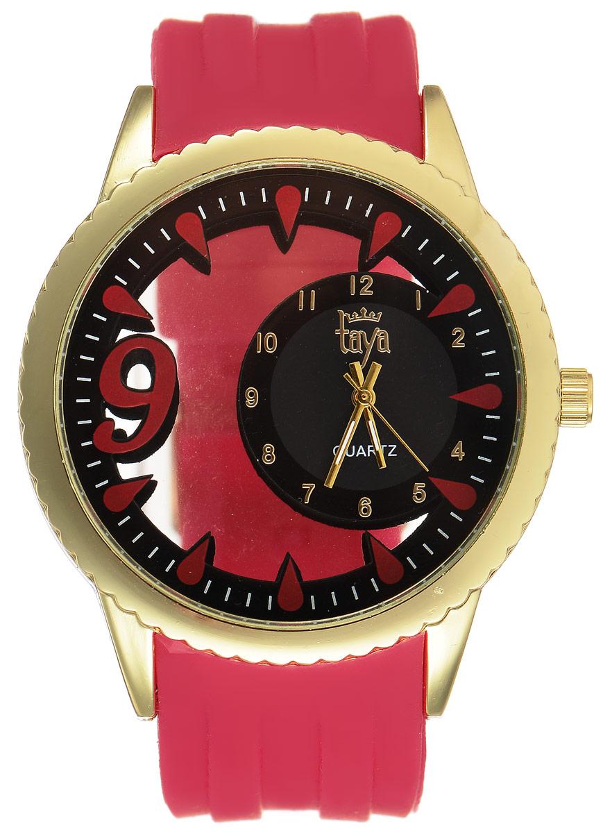Часы наручные женские Taya, цвет: золотистый, красный. T-W-0246T-W-0246-WATCH-GL.REDСтильные женские часы Taya выполнены из минерального стекла, силикона и нержавеющей стали. Уменьшенный циферблат часов оформлен символикой бренда. Корпус выполнен из двух минеральных прозрачных стекол, оснащен кварцевым механизмом со сменным элементом питания. Браслет выполнен из силикона, застегивается на практичную пряжку. Изделие поставляется в фирменной упаковке. Часы Taya подчеркнут изящность женской руки и отменное чувство стиля у их обладательницы.