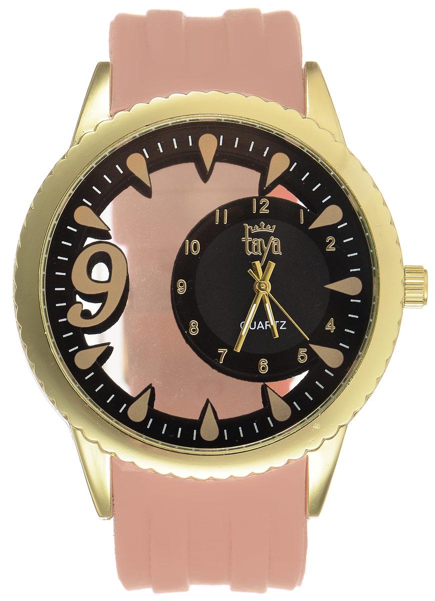 Часы наручные женские Taya, цвет: золотистый, бежевый. T-W-0245T-W-0245-WATCH-GL.BROWNСтильные женские часы Taya выполнены из минерального стекла, силикона и нержавеющей стали. Уменьшенный циферблат часов оформлен символикой бренда. Корпус выполнен из двух минеральных прозрачных стекол, оснащен кварцевым механизмом со сменным элементом питания. Браслет выполнен из силикона, застегивается на практичную пряжку. Изделие поставляется в фирменной упаковке. Часы Taya подчеркнут изящность женской руки и отменное чувство стиля у их обладательницы.
