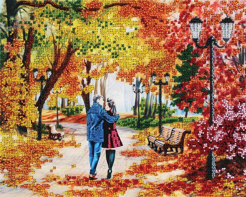 Набор для вышивания бисером Белоснежка Осенний парк, скамейка, двое, 24 x 30 см9042-СМНабор для частичной вышивки бисером. Основа вышивки – ткань с нанесенным фоновым рисунком и схемой. Места вышивки бисером выделены условными обозначениями разного цвета, внизу схемы дан ключ с обозначением цвета на схеме и соответствующему ему номеру бисера. Набор комплектуется качественным чешским бисером Preciosa № 10. В процессе вышивки бисером изображение становится объемным, приобретая красивые блестящие акценты.