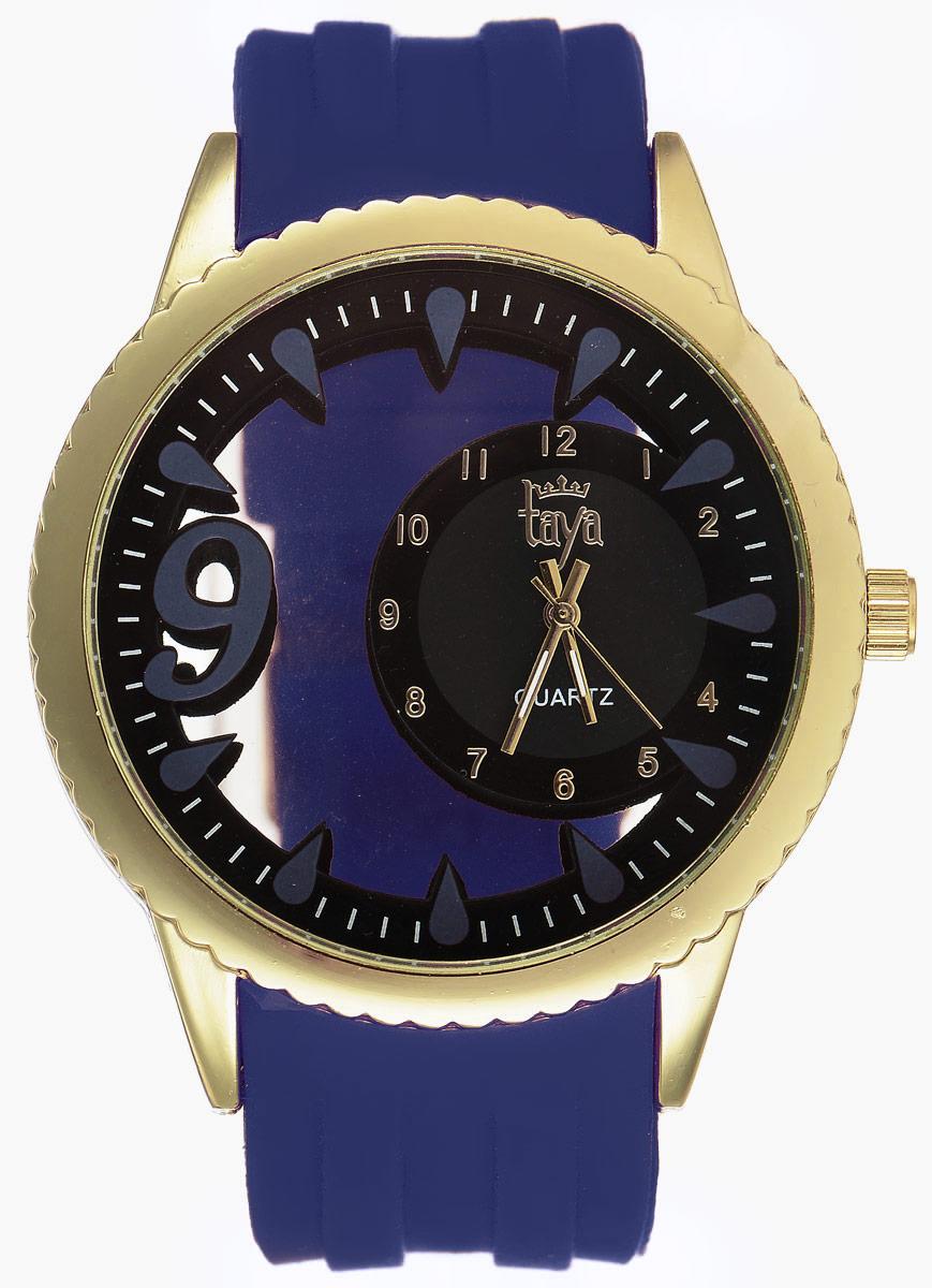 Часы наручные женские Taya, цвет: синий, золотой. T-W-0243T-W-0243-WATCH-GL.D.BLUEСтильные женские часы Taya выполнены из минерального стекла, силикона и нержавеющей стали. Уменьшенный циферблат часов оформлен символикой бренда. Корпус выполнен из двух минеральных прозрачных стекол, оснащен кварцевым механизмом со сменным элементом питания. Браслет выполнен из силикона, застегивается на практичную пряжку. Изделие поставляется в фирменной упаковке. Часы Taya подчеркнут изящность женской руки и отменное чувство стиля у их обладательницы.