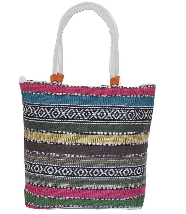 Ethnica Хлопковая сумка, цвет: мультиколор9, в полоску. 178090178090Изготавливается из натурального сырья с использованием натуральных красителей