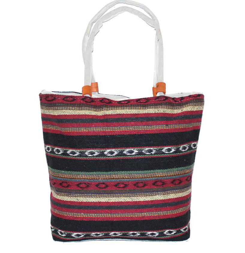 Ethnica Хлопковая сумка, цвет: мультиколор10, в полоску. 178090178090Изготавливается из натурального сырья с использованием натуральных красителей