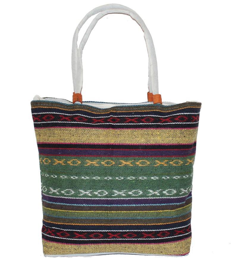 Ethnica Хлопковая сумка, цвет: мультиколор13, в полоску. 178090178090Изготавливается из натурального сырья с использованием натуральных красителей