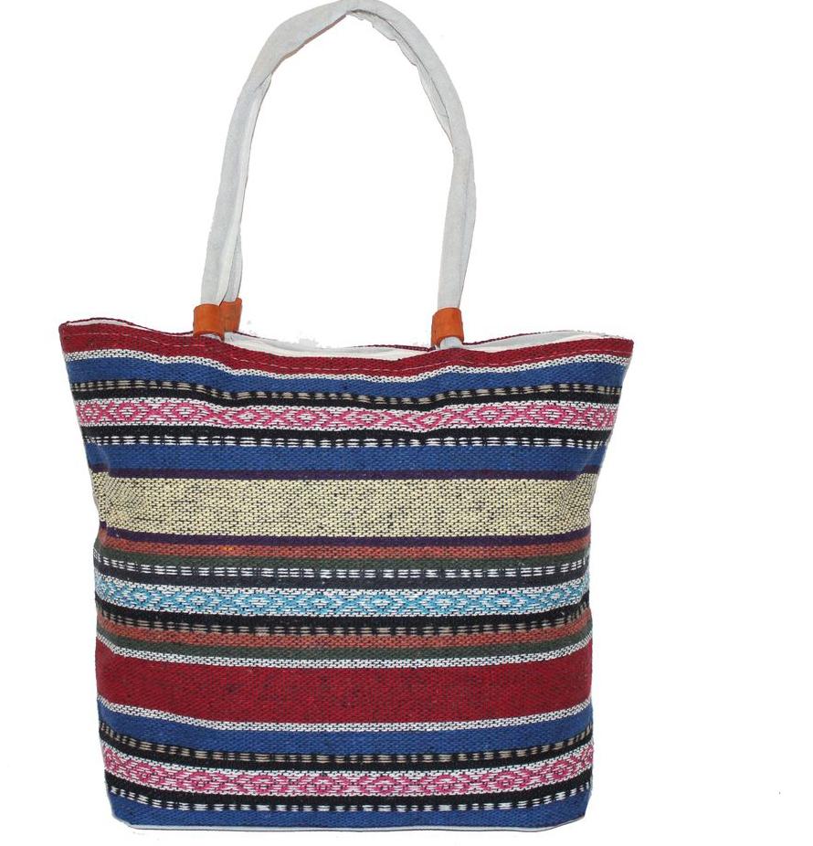 Ethnica Хлопковая сумка, цвет: мультиколор14, в полоску. 178090178090Изготавливается из натурального сырья с использованием натуральных красителей
