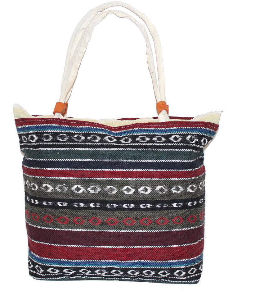 Ethnica Хлопковая сумка, цвет: мультиколор15, в полоску. 178090178090Изготавливается из натурального сырья с использованием натуральных красителей