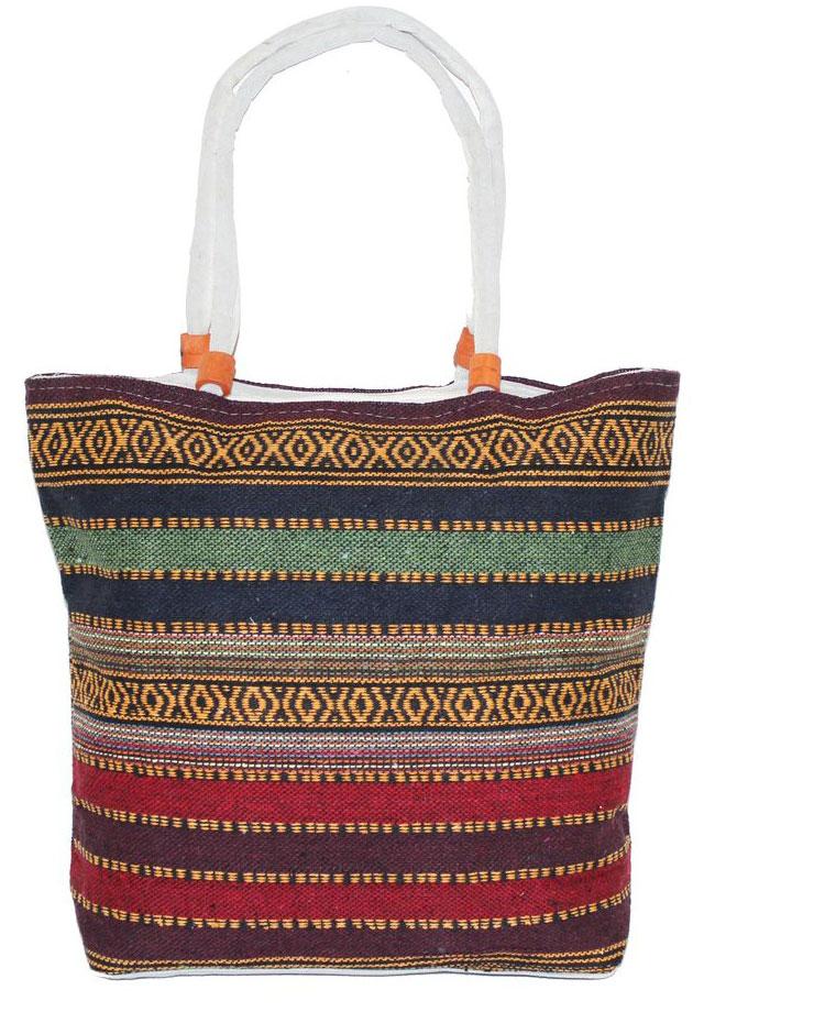 Ethnica Хлопковая сумка, цвет: мультиколор16, в полоску. 178090178090Изготавливается из натурального сырья с использованием натуральных красителей