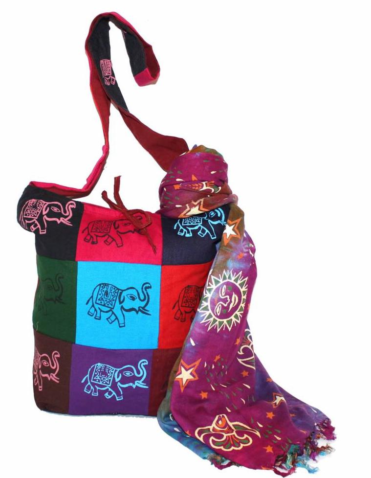 Ethnica Хлопковая сумка, цвет: мультиколор_1. 183140183140Изготавливается из натурального сырья с использованием натуральных красителей