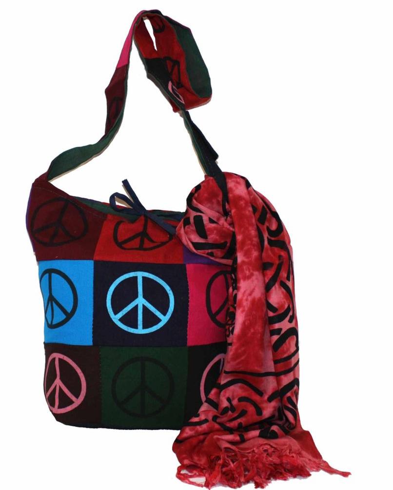 Ethnica Хлопковая сумка, цвет: мультиколор_3. 183140183140Изготавливается из натурального сырья с использованием натуральных красителей