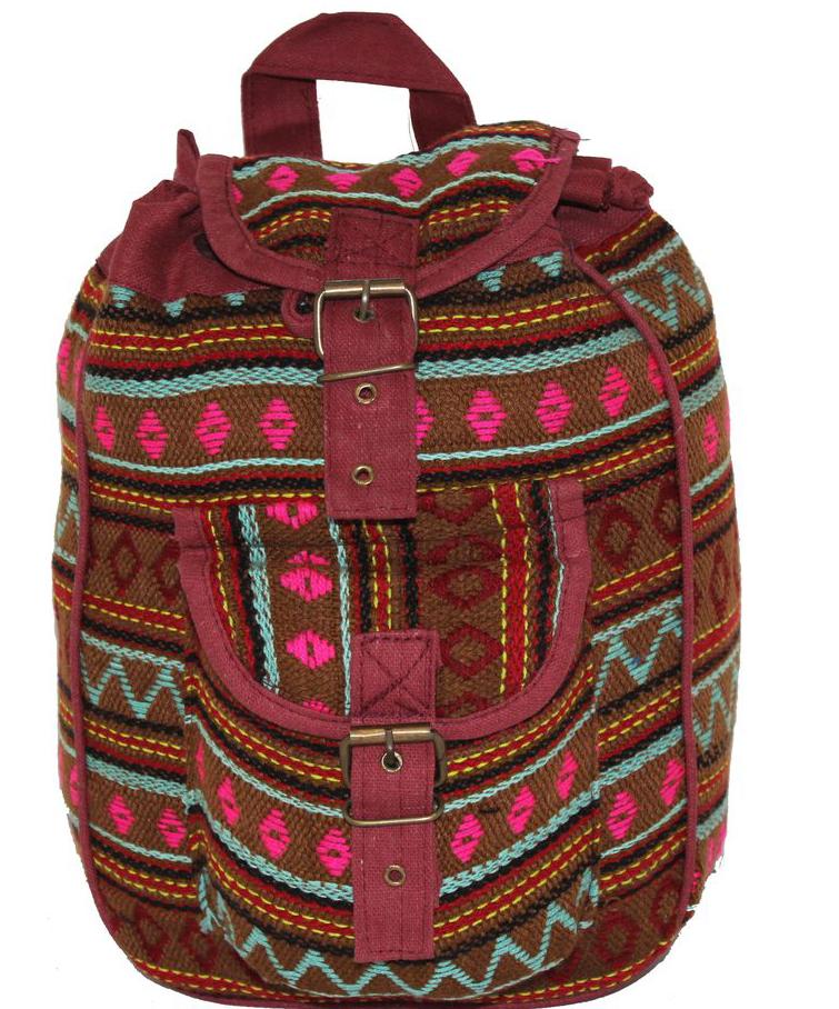 Ethnica Хлопковый рюкзак, цвет: мультиколор_6. 197180197180Изготавливается из натурального сырья с использованием натуральных красителей