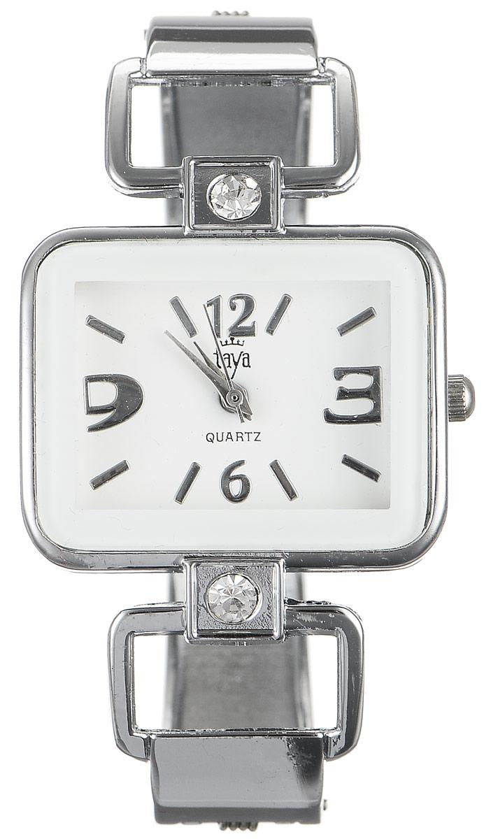 Часы наручные женские Taya, цвет: серебристый, белый. T-W-0418T-W-0418-WATCH-SL.WHITEСтильные женские часы Taya выполнены из минерального стекла и нержавеющей стали. Циферблат часов украшен символикой бренда. Корпус часов оснащен кварцевым механизмом со сменным элементом питания, а также дополнен раздвижным браслетом с пружинным механизмом, который позволяет надеть часы на любую руку. Браслет оформлен стразами. Часы поставляются в фирменной упаковке. Часы Taya подчеркнут изящность женской руки и отменное чувство стиля у их обладательницы.