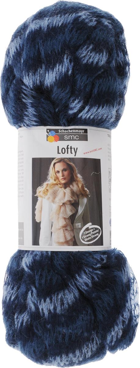Пряжа для вязания Schachenmayr Lofty, цвет: голубой, синий, темно-синий (00083), 12 м, 100 г9891713-09999-00083Пряжа для вязания Schachenmayr Lofty, изготовленная из 40% полиакрила, 30% мохера и 30% полиамида, очень мягкая и уютная. Пряжа из этого материала широко используется и представлена различными расцветками. Волокна очень эластичные, что повышает износостойкость и прочность нити. Мохер очень тонкое и теплое волокно. Это один из самых прочных натуральных материалов, при этом исключительно легкий и шелковистый. Создайте женский шарф с оборками только из одного мотка Lofty! Вы даже можете не вязать шарф! А просто продеть в вязанную трубу обратный конец нити и - шарфик готов! Изделия получаются очень теплыми, за ними легко ухаживать и можно стирать в машине. Подходит для вязания на спицах №8.