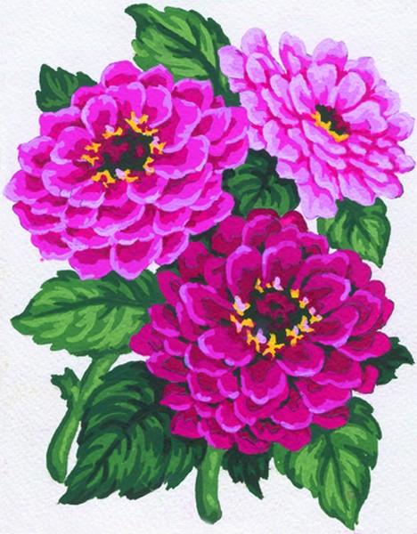 Канва с нанесенным рисунком Collection DArt, 20 х 25 см. 30463046