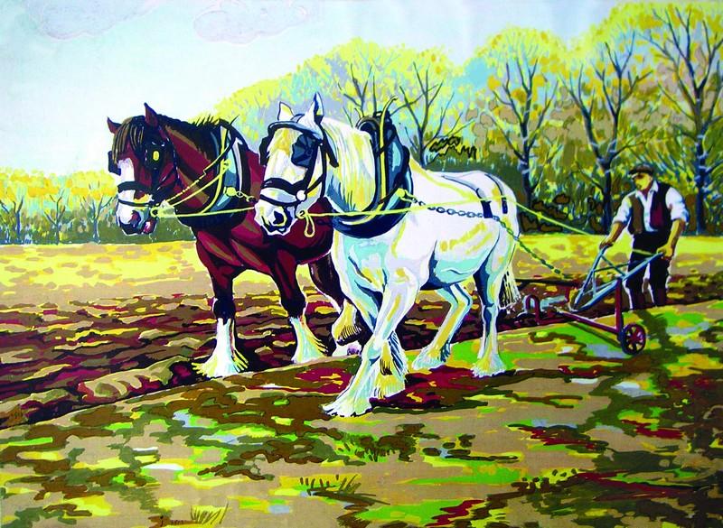 Канва с нанесенным рисунком Collection DArt, 30 х 40 см. 62516251
