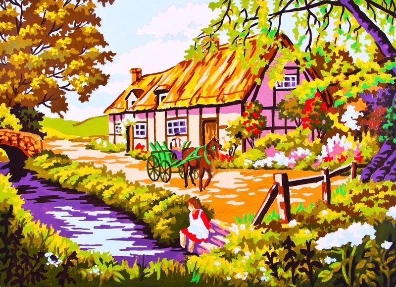 Канва с нанесенным рисунком Collection DArt, 30 х 40 см. 62636263