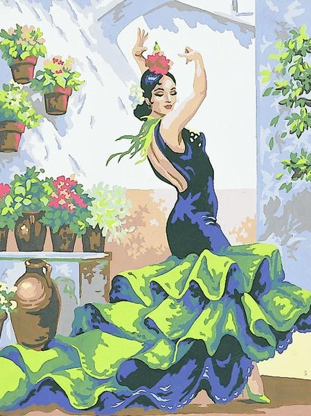 Канва с нанесенным рисунком Collection DArt, 40 х 50 см. 1032310323