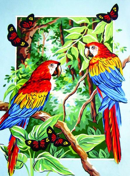 Канва с нанесенным рисунком Collection DArt, 40 х 50 см. 1045210452