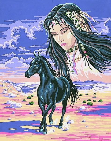 Канва с нанесенным рисунком Collection DArt, 50 х 40 см. 1145311453
