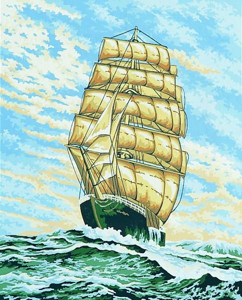 Канва с нанесенным рисунком Collection DArt, 50 х 40 см. 1184411844