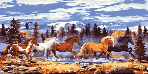 Канва с нанесенным рисунком Collection DArt, 45 х 100 см. 1398213982