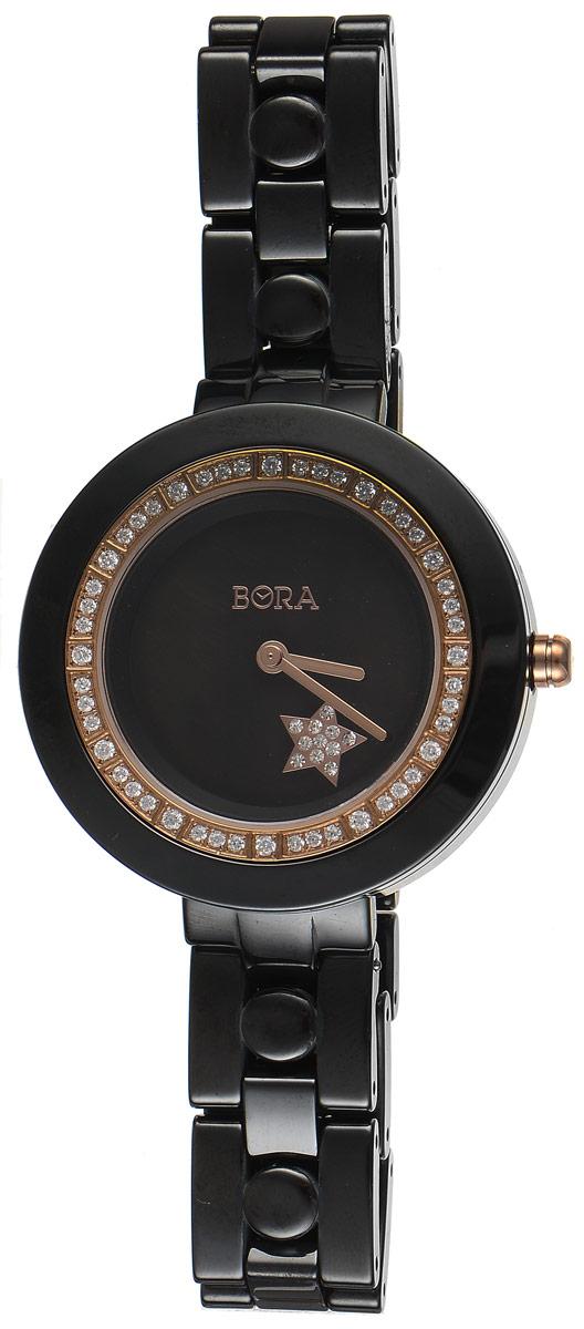 Часы наручные женские Bora, цвет: черный. T-B-7641 T-B-7641-WATCH-BLACK