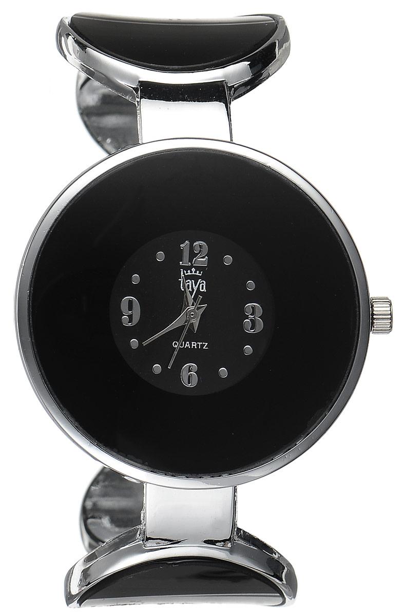 Часы наручные женские Taya, цвет: серебристый, черный. T-W-0453T-W-0453-WATCH-SL.BLACKСтильные женские часы Taya выполнены из минерального стекла и нержавеющей стали. Циферблат часов украшен символикой бренда. Корпус часов оснащен кварцевым механизмом со сменным элементом питания, а также дополнен раздвижным браслетом с пружинным механизмом, который позволяет надеть часы на любую руку. Часы поставляются в фирменной упаковке. Часы Taya подчеркнут изящность женской руки и отменное чувство стиля у их обладательницы.