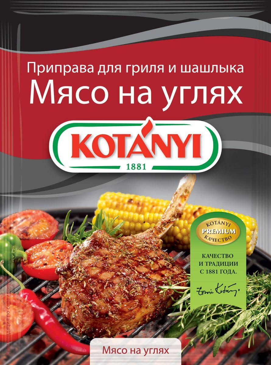Kotanyi Приправа для гриля и шашлыка Мясо на углях, 30 г116011Приправа для гриля и шашлыка Kotanyi Мясо на углях - смесь специально отобранных ингредиентов, таких как высококачественная паприка, перец и кориандр, придает мясу вкус и аромат дымка. Просто натрите мясо приправой Kotanyi и маслом и дайте впитаться. Отлично подходит для любого мяса, приготовленного на углях.