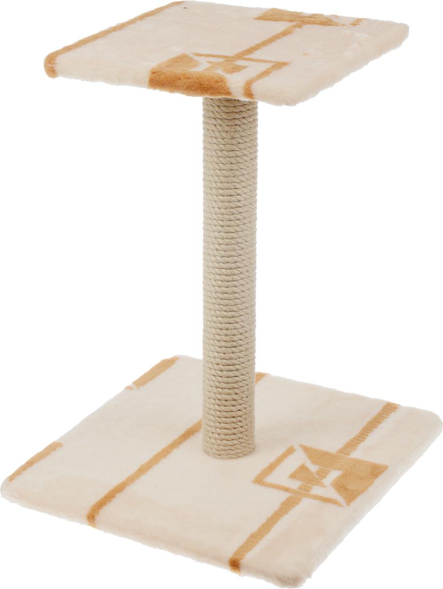 Когтеточка Меридиан Зонтик, цвет: коричневый, бежевый, 40 х 40 х 50 смК506 ГКогтеточка Меридиан Зонтик поможет сохранить мебель и ковры в доме от когтей вашего любимца, стремящегося удовлетворить свою естественную потребность точить когти. Когтеточка изготовлена из дерева, искусственного меха и джута. Товар продуман в мельчайших деталях и, несомненно, понравится вашей кошке. Сверху имеется полка. Всем кошкам необходимо стачивать когти. Когтеточка - один из самых необходимых аксессуаров для кошки. Для приучения к когтеточке можно натереть ее сухой валерьянкой или кошачьей мятой. Когтеточка поможет вашему любимцу стачивать когти и при этом не портить вашу мебель. Размер основания: 40 х 40 см. Высота когтеточки: 50 см. Размер полки: 31 х 31 см.